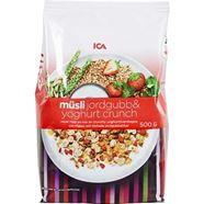Bild på ICA Müsli Jordgubb & yoghurt crunch 500g