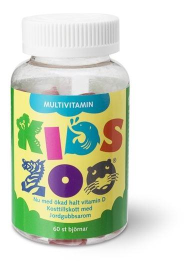 Bild på KidsZoo Multivitamin jordgubbe 60st