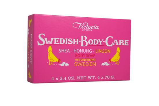 Bild på Victoria Swedish Body Care - Lingon 4x70g