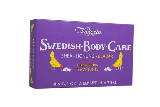 Bild på Victoria Swedish Body Care - Blåbär 4x70g