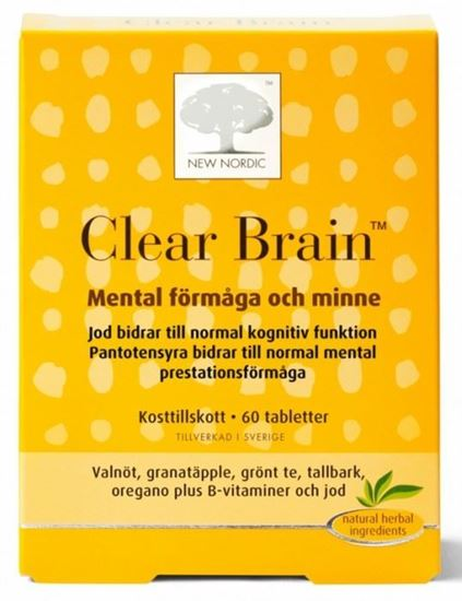 Bild på New Nordic Clear Brain 60 tabletter